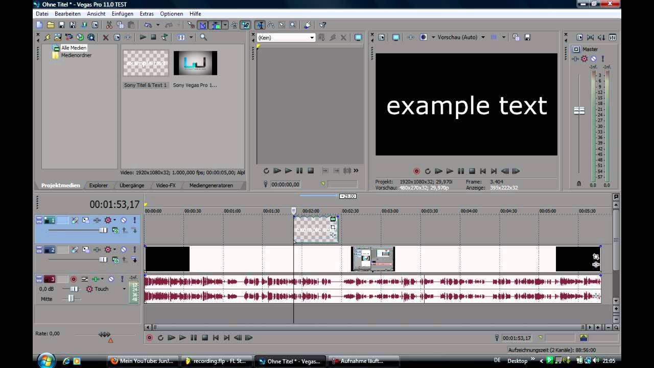 Sony Vegas Pro 11  How To Put Text Over Video  Tutorial