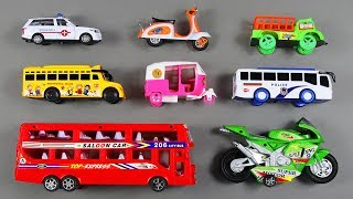Transportation Vehicles toys with Learn Colors and Number Counting | Video for Children