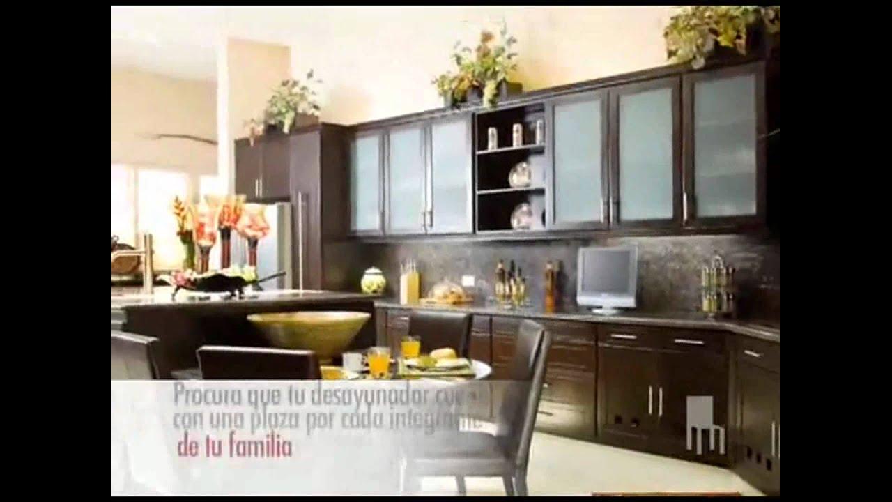 Cocinas con youtube for Cocinas con desayunador ideas