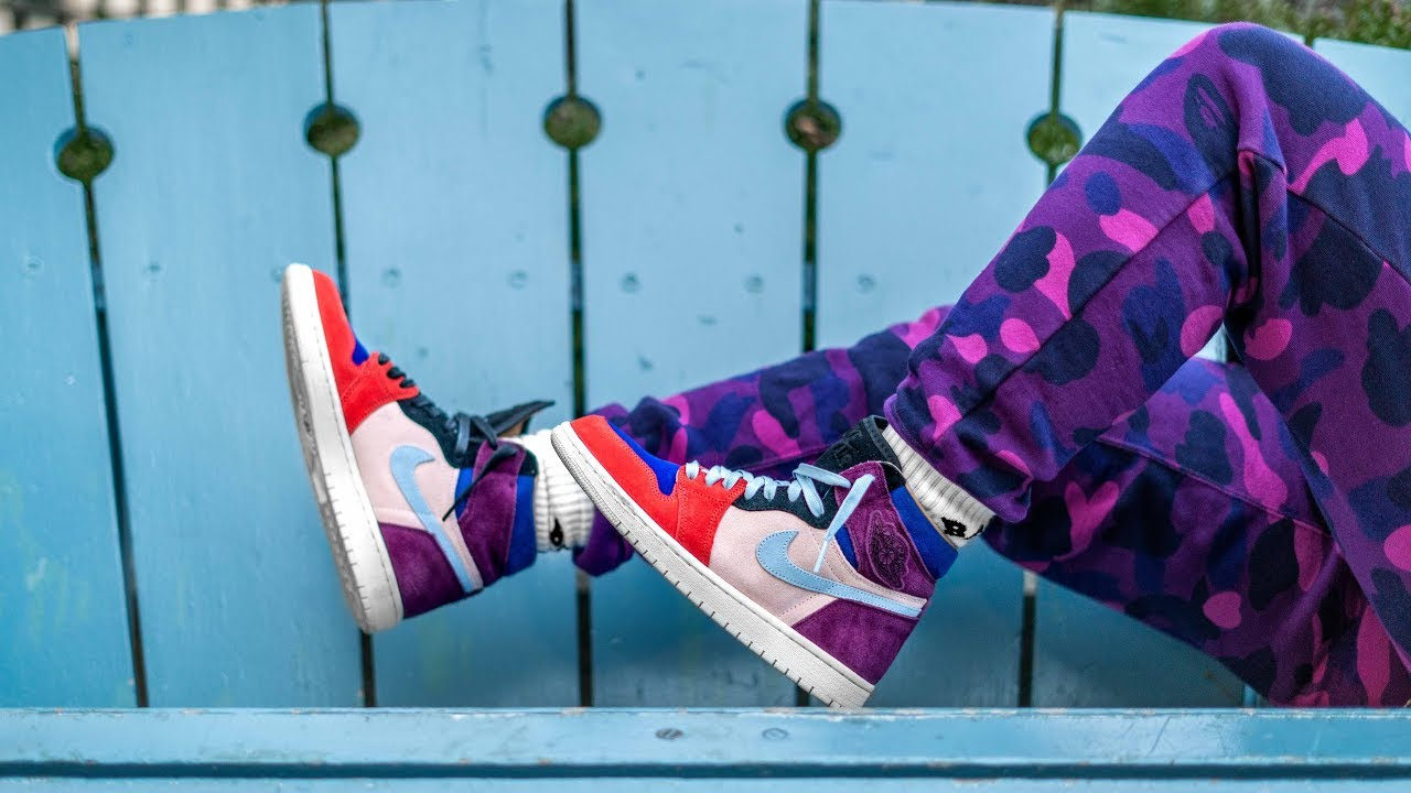low priced 740b2 22dc8 SHOULD MEN BE ALLOWED TO BUY THIS SHOE | ALEALI MAY JORDAN 1 COURT LUX ON  FOOT REVIEW
