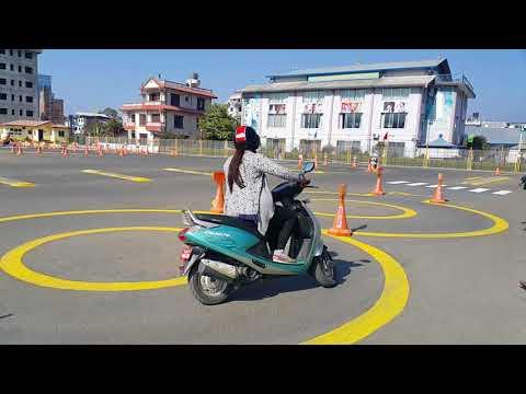 Scooter trial in Kathmandu