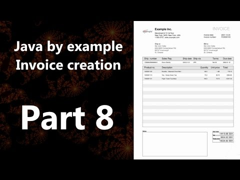 Invoice creation part 8 (Java by Example)
