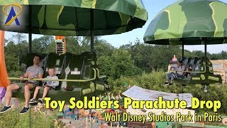 Toy Soldiers Parachute Drop POV at Walt Disney Studios Park in Paris