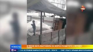 В Пензе мать выставила сына на десятиградусный мороз