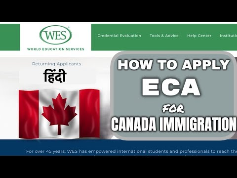 🇨🇦ECA | Education Credential Assessment | How To Apply | WES Canada | Express Entry 2019 |हिंदी