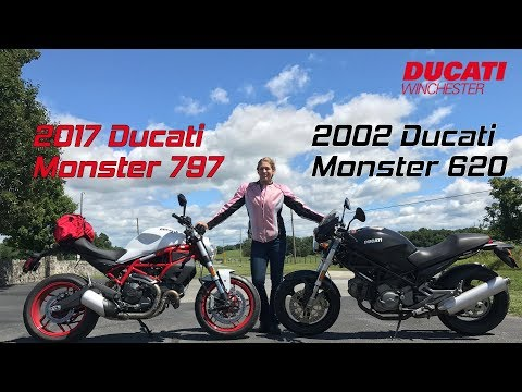2017 Ducati Monster 797 v 2002 Ducati Monster 620