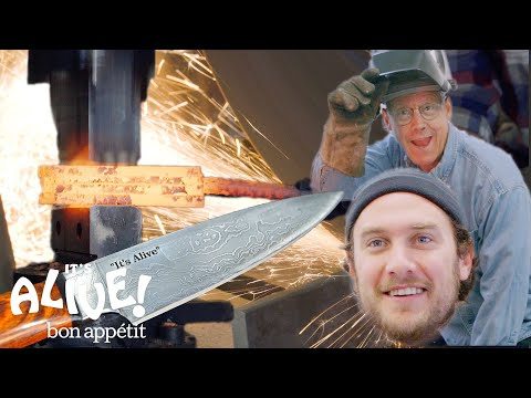 Brad Makes A Knife with Bob Kramer | It's Alive | Bon Apptit