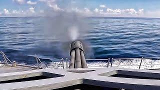 USS Lassen Close In Weapons System Test Fire • CIWS