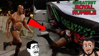 TITUS O'NEIL TRIPS AT THE GREATEST ROYAL RUMBLE PPV! EPIC FUNNY MOMENT (LIVE REACTION)