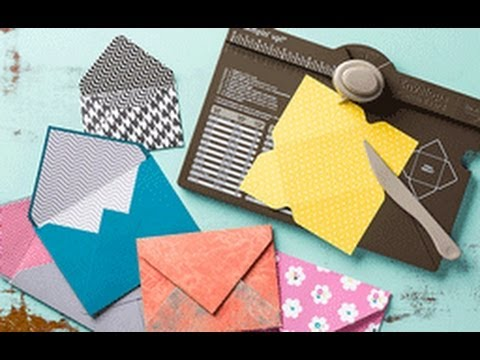 Stampin' 101: Envelope Punch Board and making envelope liners