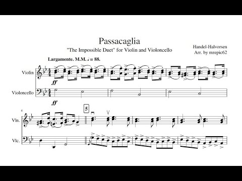 Passacaglia for Violin and Cello after a Theme by G F Handel