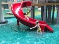 Kids playing in the water park   Fun videos for children   Water park