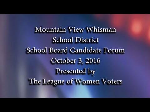 Mountain View -Whisman School District Candidate Forum 2016