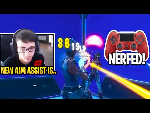 CONTROLLER Pros First Time Trying New *NERFED* AIM ASSIST After *BIG* FORTNITE UPDATE! (Patch 12.50)