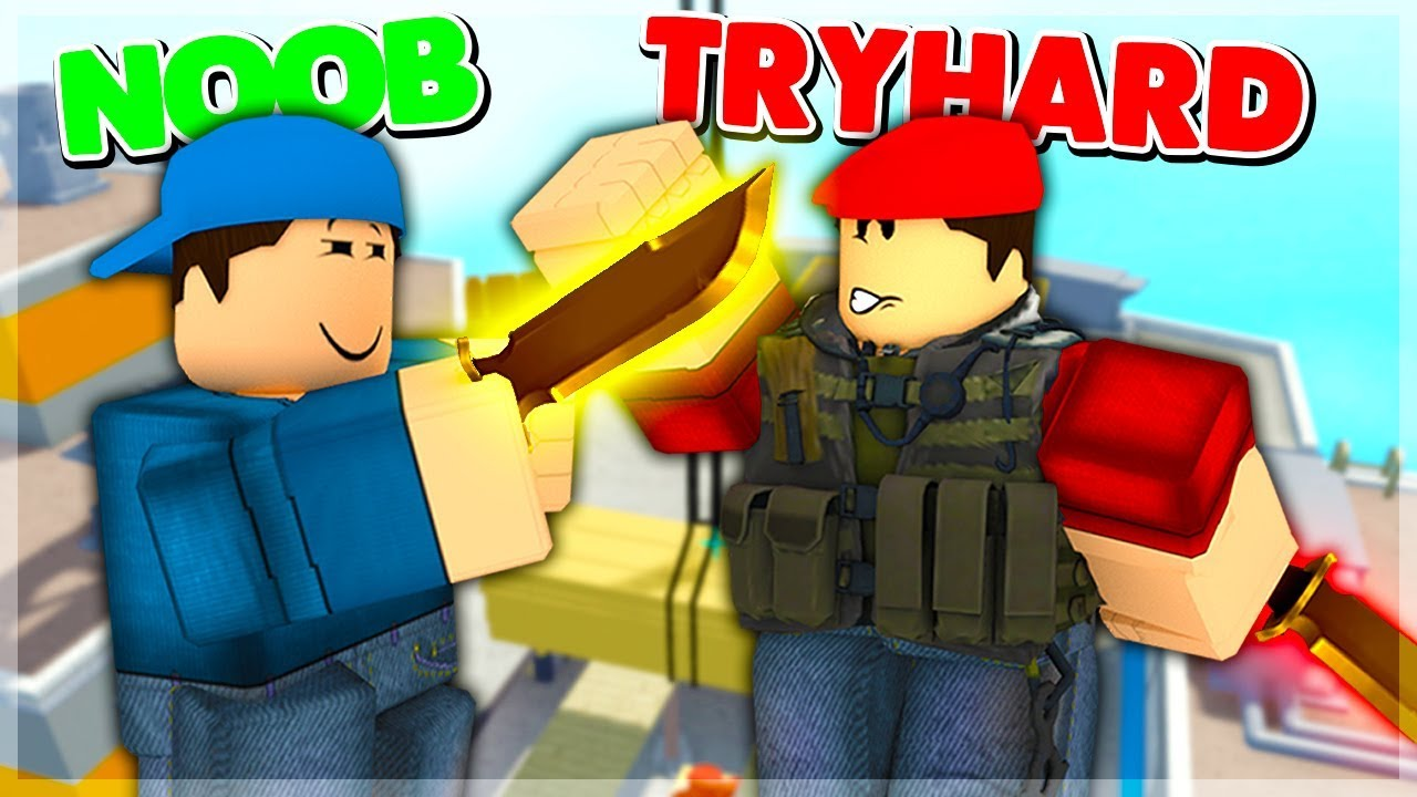 Default Noob Gets Revenge On Tryhard In Arsenal Roblox Youtube