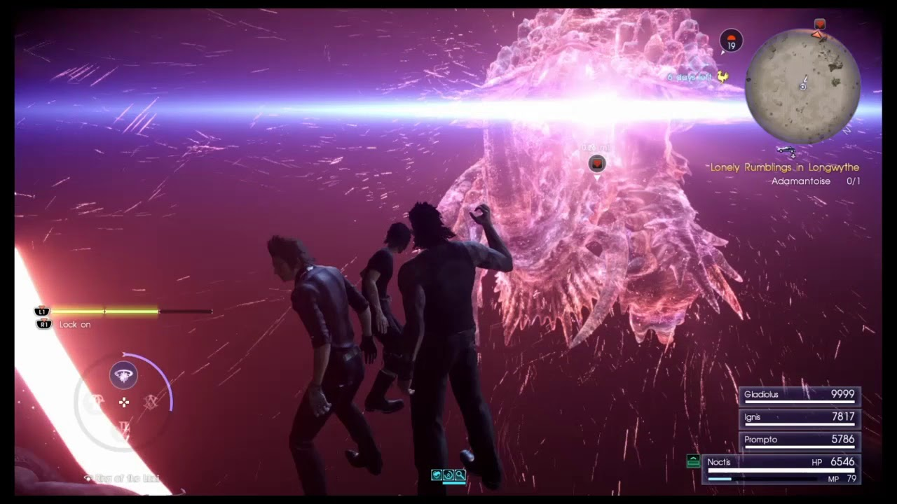 Final Fantasy Xv Adamantoise One Hit Kill With Ring Of