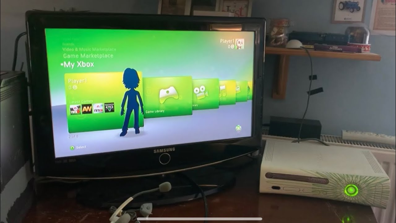 Xbox 360 with dashboard 2.0.9199.0