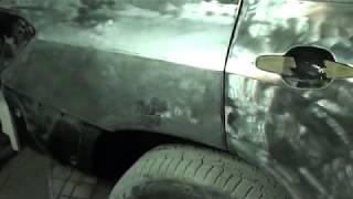 Toyota Highlander. Жестянка заднего крыла.
