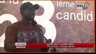 Le message de Ousmane Sonko à la manifestation du 23 juin 2021