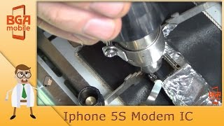 Iphone 5S. Art Knife. Modem IC soldering