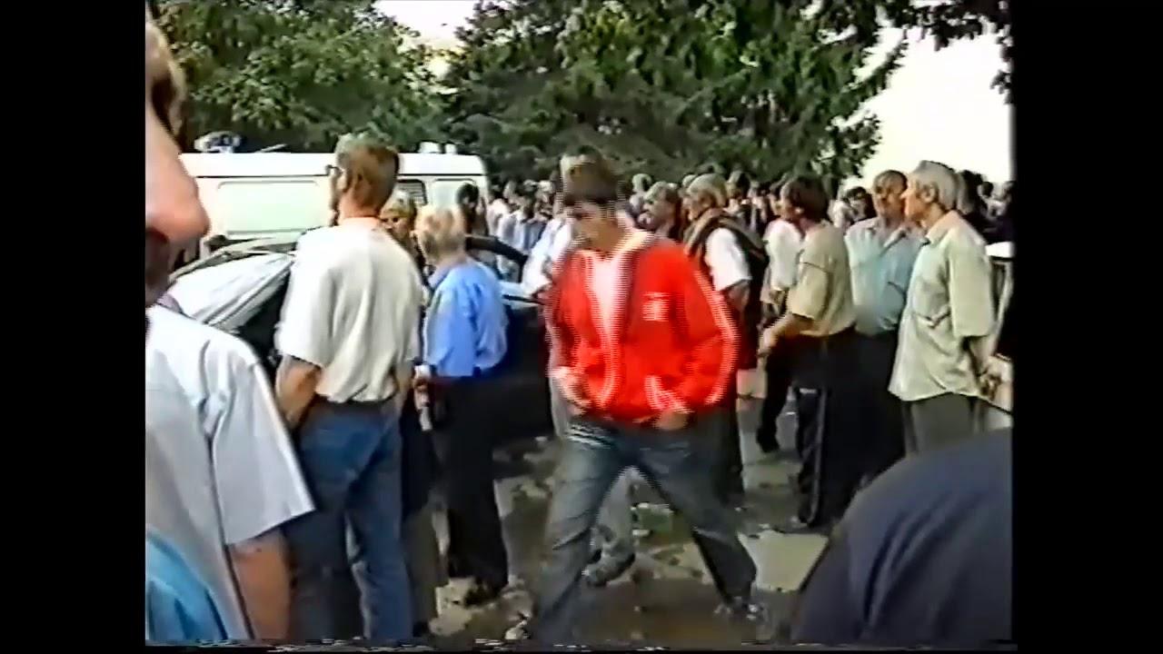 Теракт в Беслане. Первые взрывы бомб террористов. Оригинальное видео/аудио.