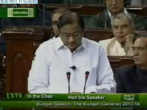 Finance Minister, Shri P. Chidambaram presents General Budget in Lok Sabha