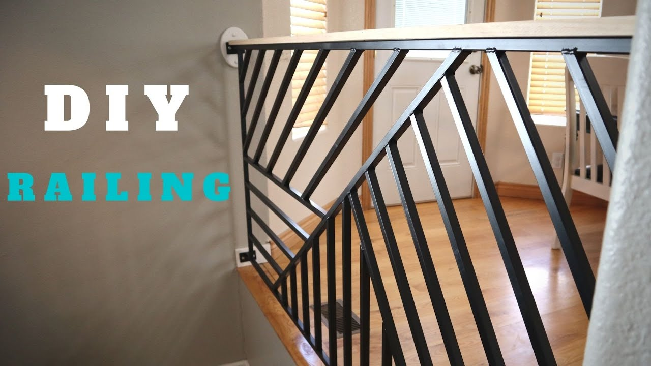 20 DIY Stair Railing Projects   How To Build A Railing For Staircase