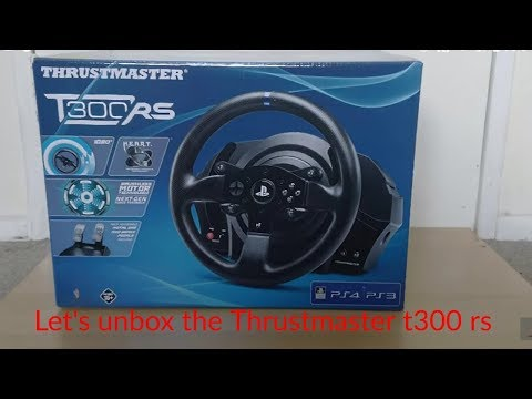 Unboxing The Thrustmaster T300rs