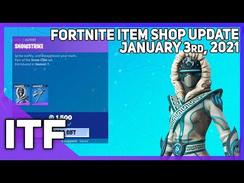 Fortnite Item Shop *RARE* SNOWSTRIKE IS BACK! [January 3rd, 2021] (Fortnite Battle Royale)