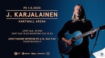 J. Karjalainen - Hartwall Arena 1.5.2020 - Liput myyntiin pe 4.10.2019