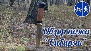 Обзор ножа Сибиряк сталь Х12МФ рукоять венге-сапеле от SV-KNIFE.RU