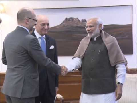 French foreign minister arrives in India for day-long visit