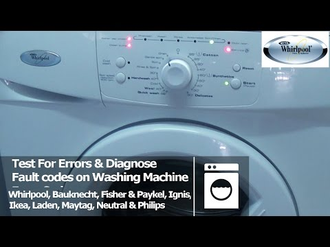 Whirlpool Washing Machine Fault & Diagnostic test mode to find your error codes