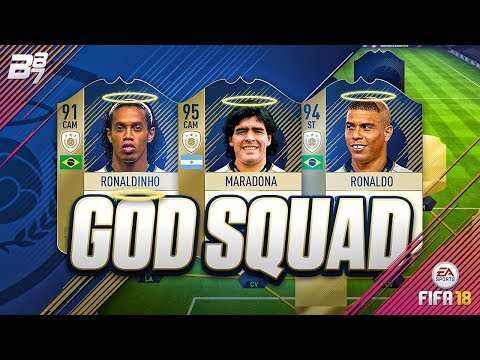 THE GOD SQUAD! w/ MARADONA AND RONALDO! | FIFA 18 ULTIMATE TEAM SQUAD BUILDER