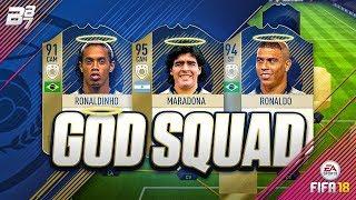 vuclip THE GOD SQUAD! w/ MARADONA AND RONALDO!   FIFA 18 ULTIMATE TEAM SQUAD BUILDER