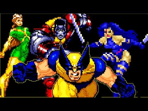 X-Men Reign of Apocalypse (GBA) All Bosses (No Damage)