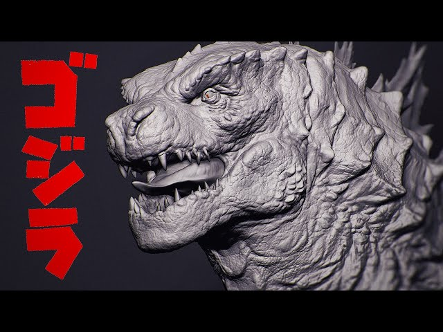 Sculpting Godzilla from A Sphere in ZBrush - Timelapse