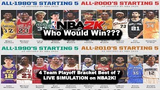 NBA2K20 All Decade Teams BEST OF 7 Series Playoff SIMULATION on nba2k (LIVE Games)