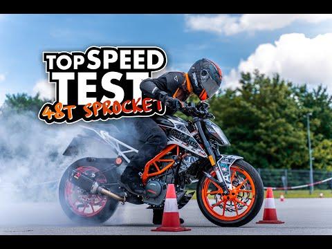 KTM Duke 125-390 TOP SPEED TEST - 48 Teeth Sprocket | BAGOROS PERFORMANCE |