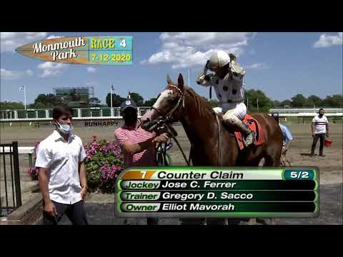 video thumbnail for MONMOUTH PARK 07-12-20 RACE 4