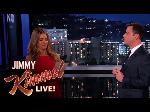 Sofia Vergara Slaps Jimmy Kimmel As They Read Internet Insults To Each Other