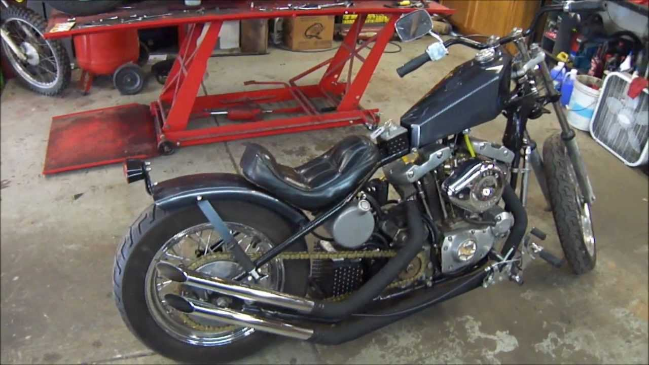 Knievel S 76 Ironhead Could Be Yours: 75 Harley Rigid Bobber