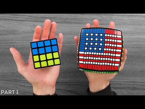 Flags Of All Countries On The Rubik's Cube [3x3 - 15x15]