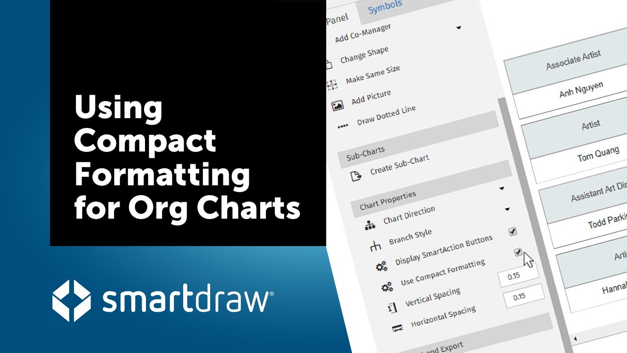 smartdraw tip using compact formatting - Smartdraw Support