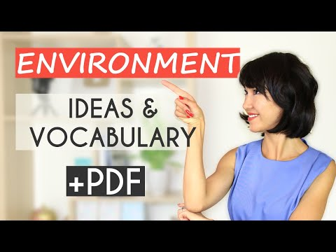 IELTS Vocabulary And Ideas: Environment   Writing & Speaking