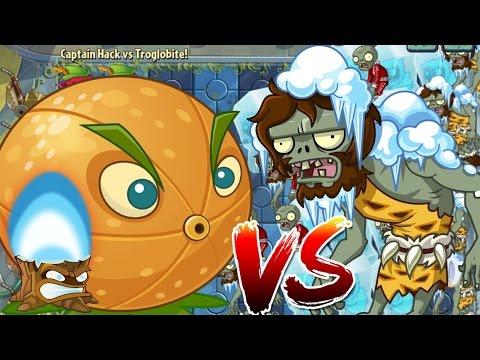 Plants vs Zombies 2 Epic Hack : Citron Ultra Fire vs Troglobite Zombies