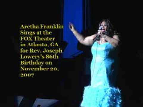 Aretha Franklin Sings for Rev. Joseph Lowery at the Fox