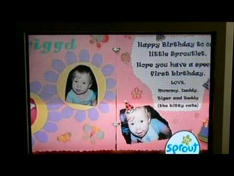 Brigyds Birthday Card on Sprout YouTube