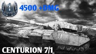 Centurion 7/1 world of tanks blitz gameplay || 4500 DMG || 2 KILLS