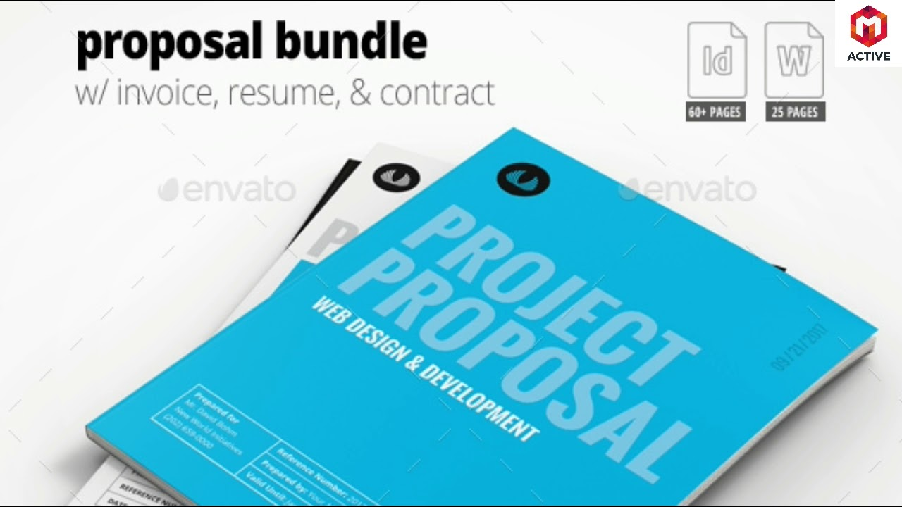 business proposal template w resume invoice 60 pages